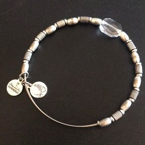 Alex and Ani silver and glass bead bracelet